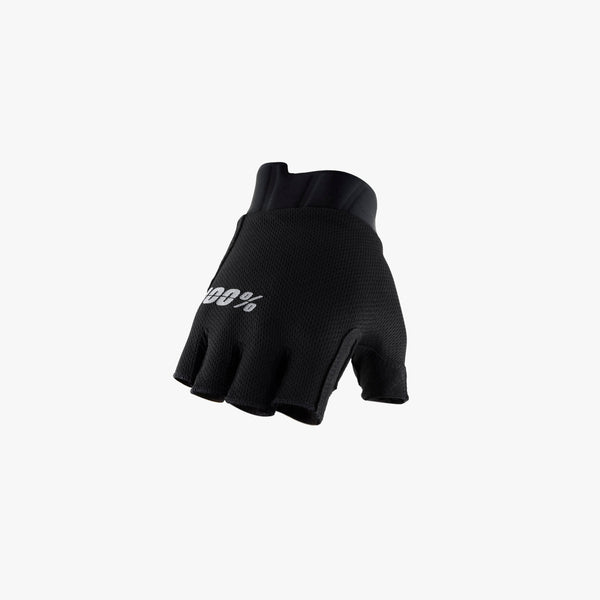 EXCEEDA Gel Short Finger Gloves Solid Black