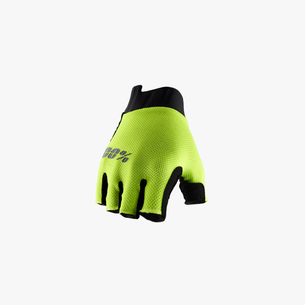 EXCEEDA Gel Women's Short Finger Gloves Fluo Yellow