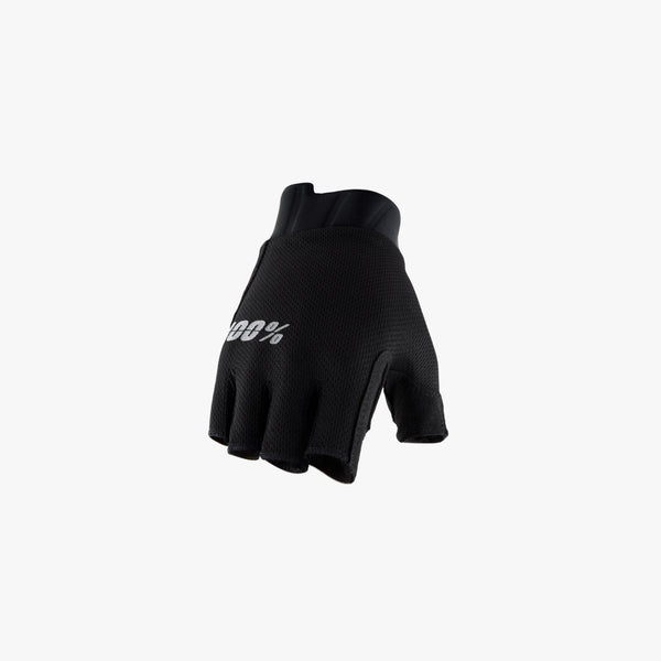 EXCEEDA Gel Women's Short Finger Gloves Solid Black