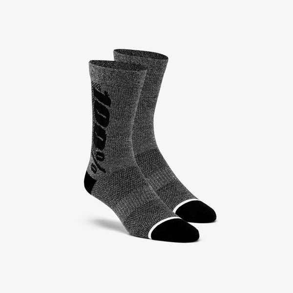 RYTHYM Merino Wool Performance Socks - Charcoal Heather