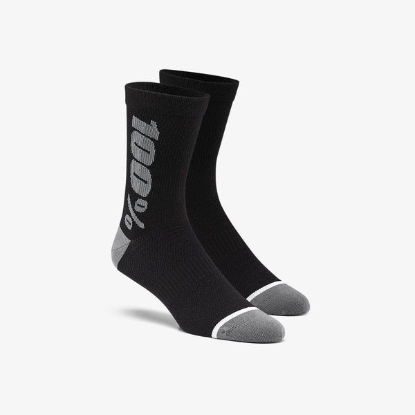 RYTHYM Merino Wool Performance Socks - Black/Grey
