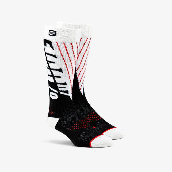 TORQUE Comfort Moto Socks Black/White