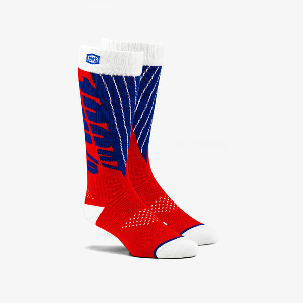 TORQUE Comfort Moto Socks Red/Blue