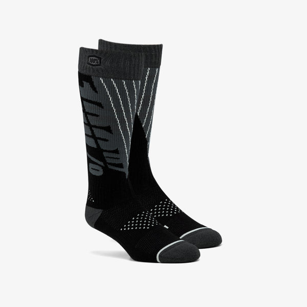 TORQUE Comfort Moto Socks Black/Steel Grey