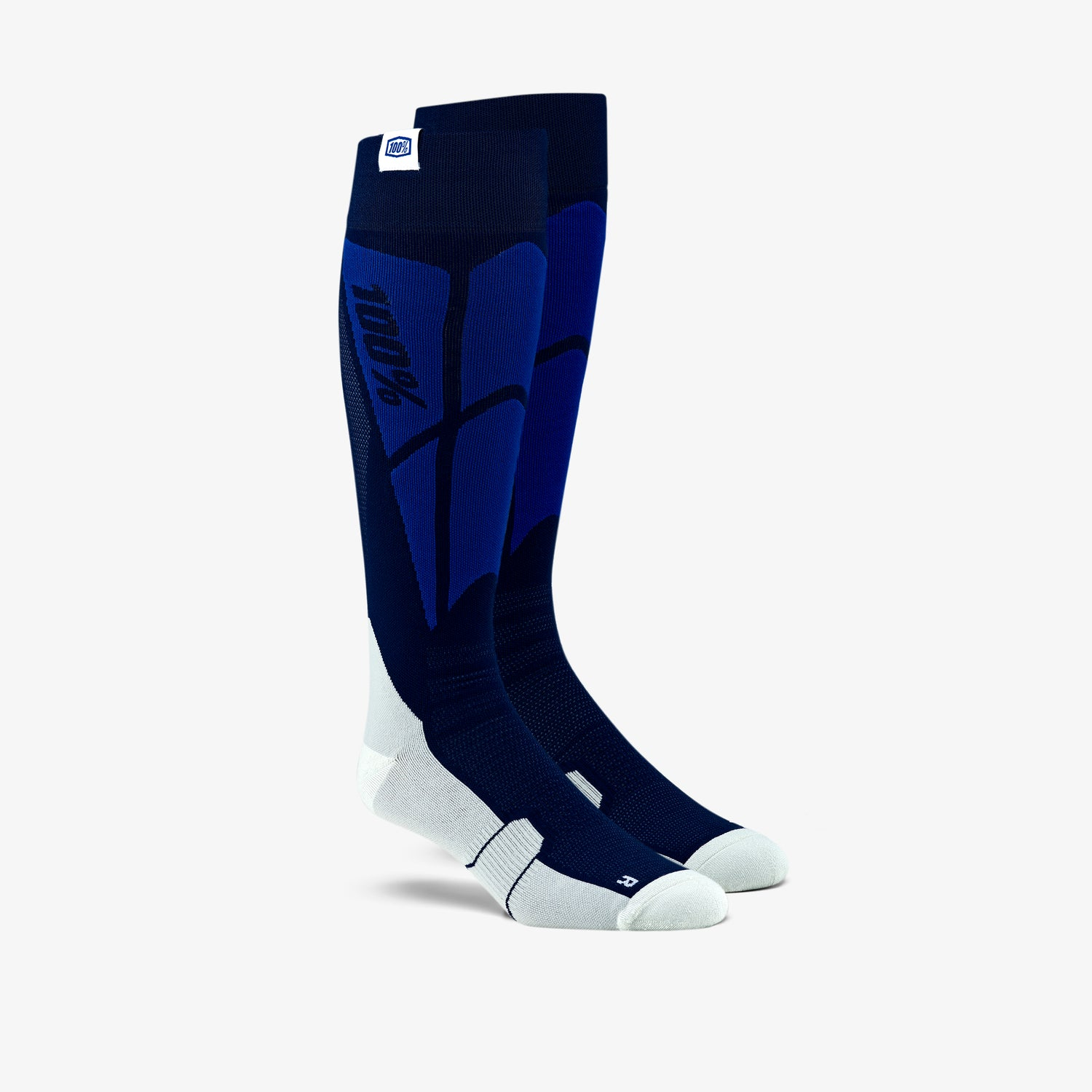 HI SIDE Performance Moto Socks Navy/Grey