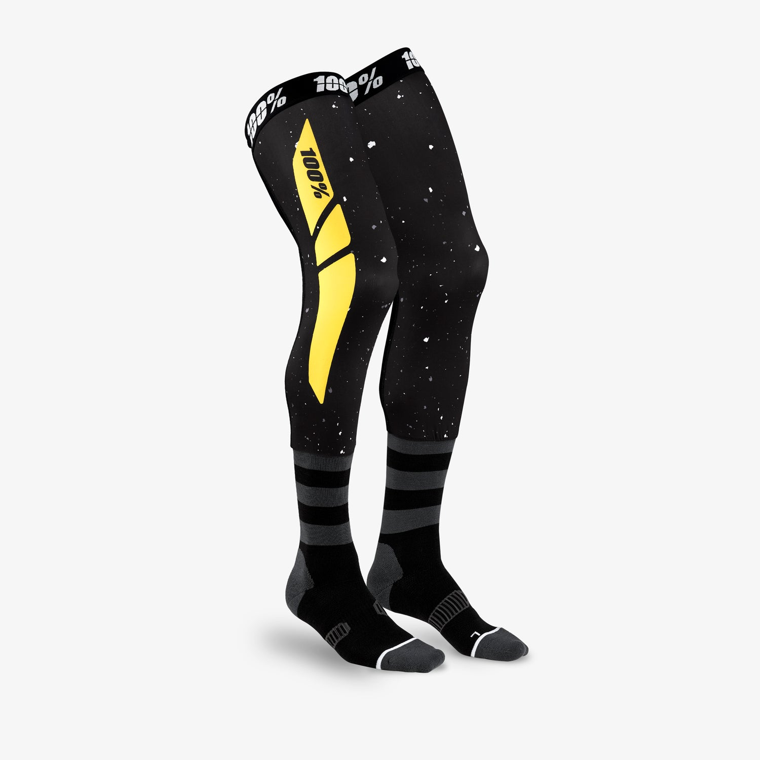 REV Knee Brace Performance Moto Socks Black/Yellow