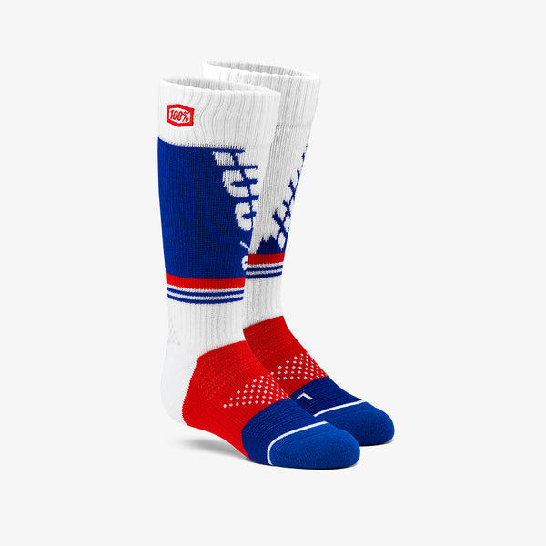 TORQUE Moto Socks - White - Youth