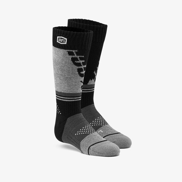 TORQUE Moto Socks - Black/Grey - Youth