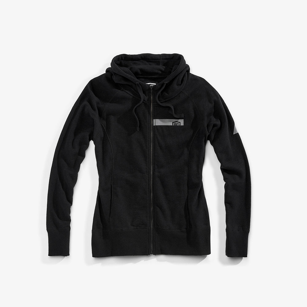JOURNEY Zip Hooded Sweatshirt - Black - Womens