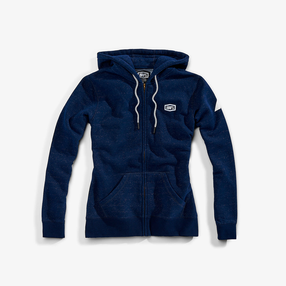 COSMIC Zip Hooded Sweatshirt - Navy - Womens
