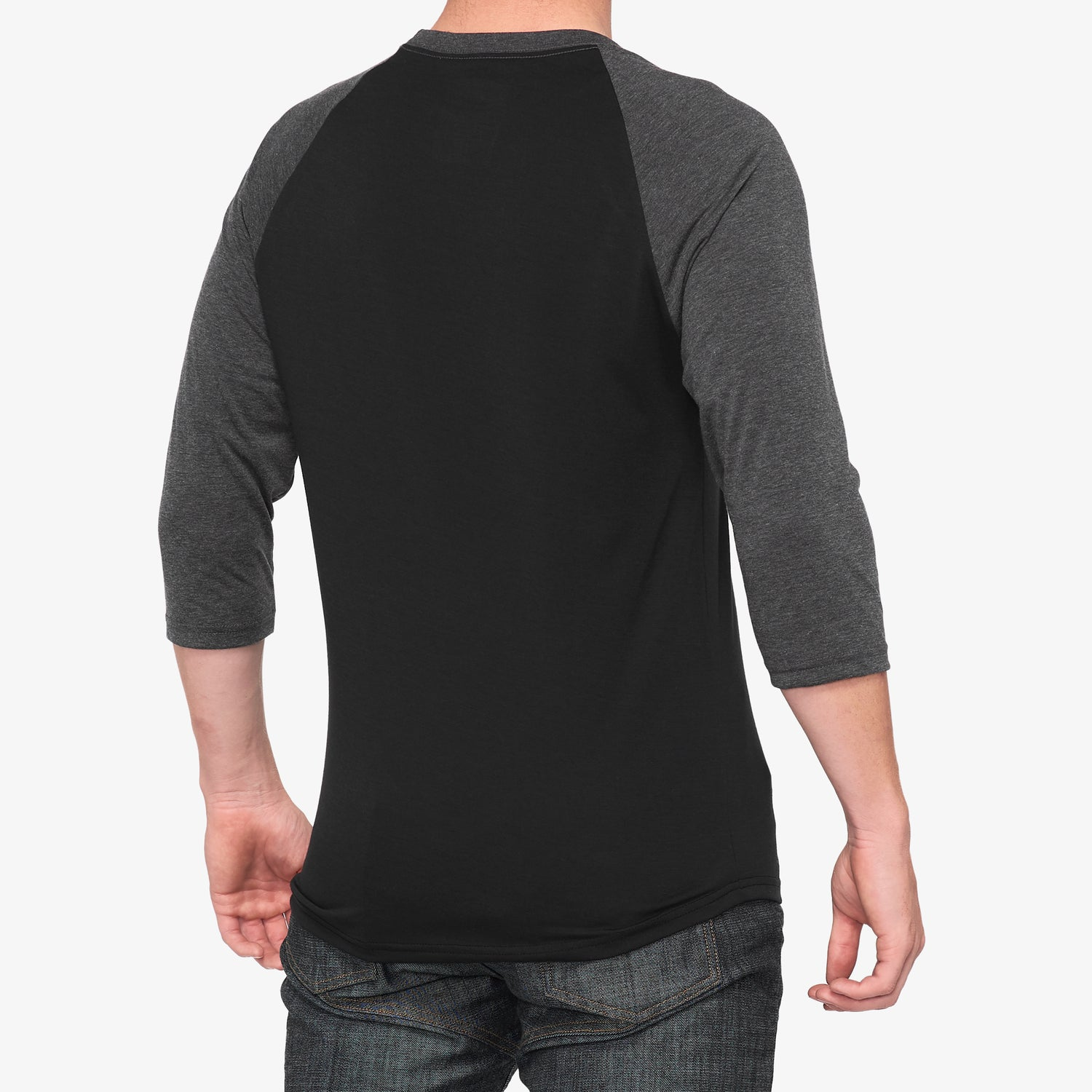 STRIPES 3/4 Sleeve Tech T-shirt Black