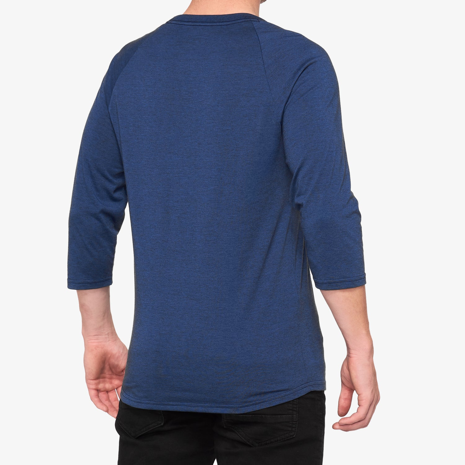 HELGI 3/4 Sleeve Tech Tee Navy Heather