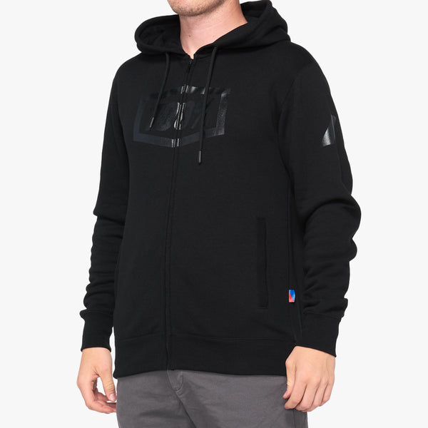 SYNDICATE Hooded Zip Sweatshirt Black/Black Foil
