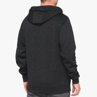 SYNDICATE Zip Hooded Sweatshirt - Black Heather/White