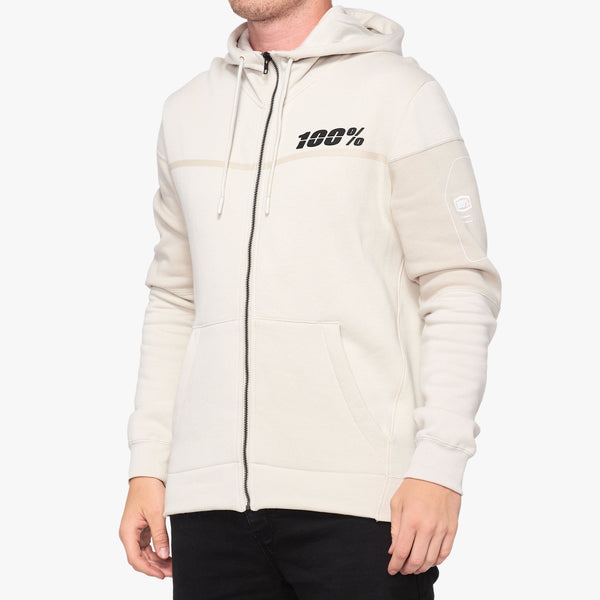 EMISSARY Hooded Zip Sweatshirt Warm Grey
