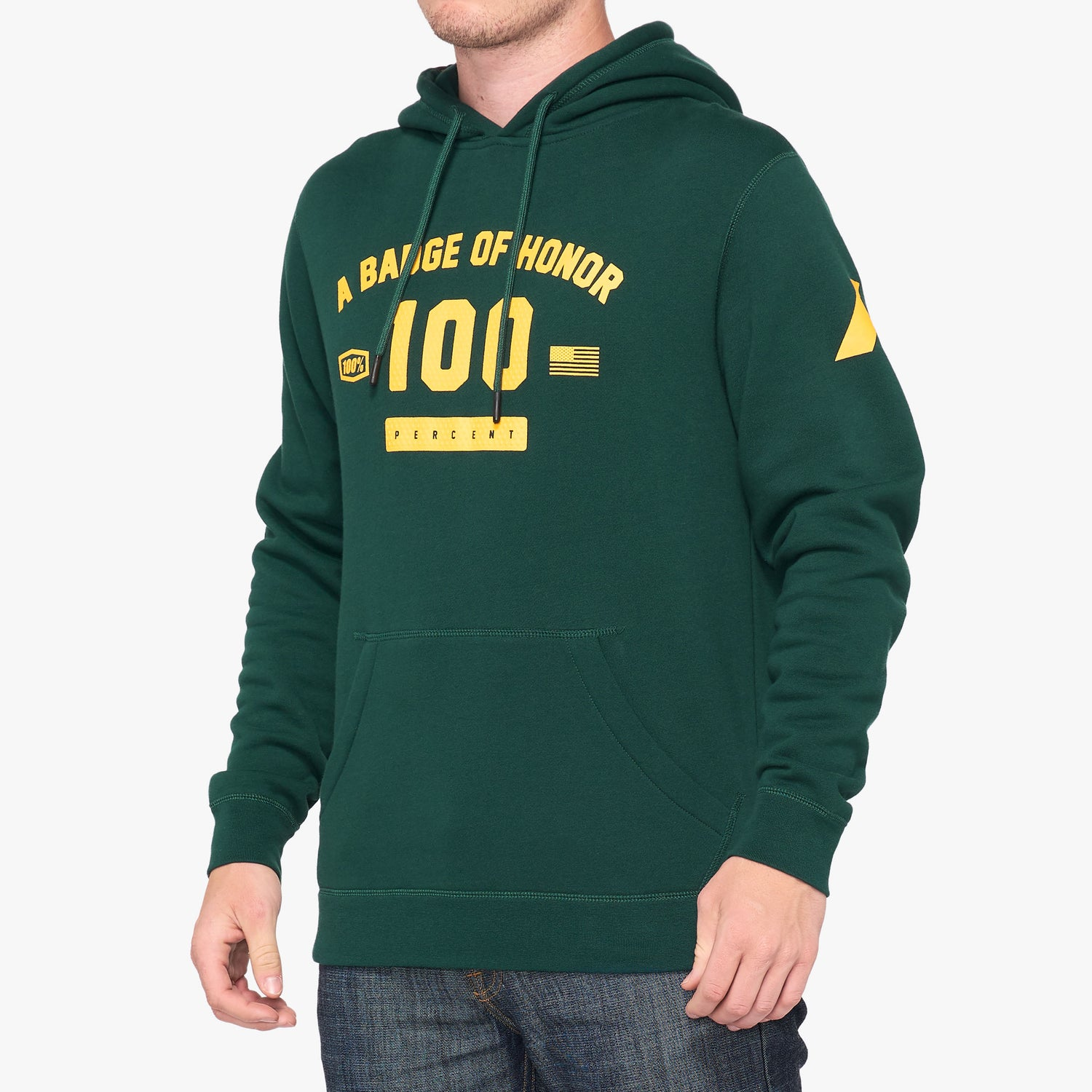 TRIBUTE Hooded Pullover Sweatshirt Emerald