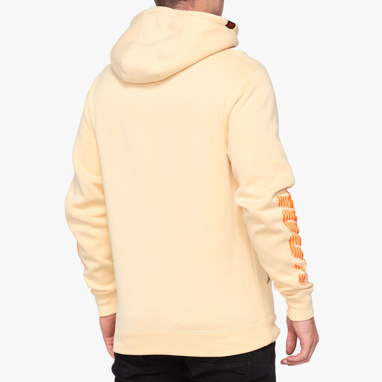 VIRGIL Hooded Pullover Sweatshirt Beige