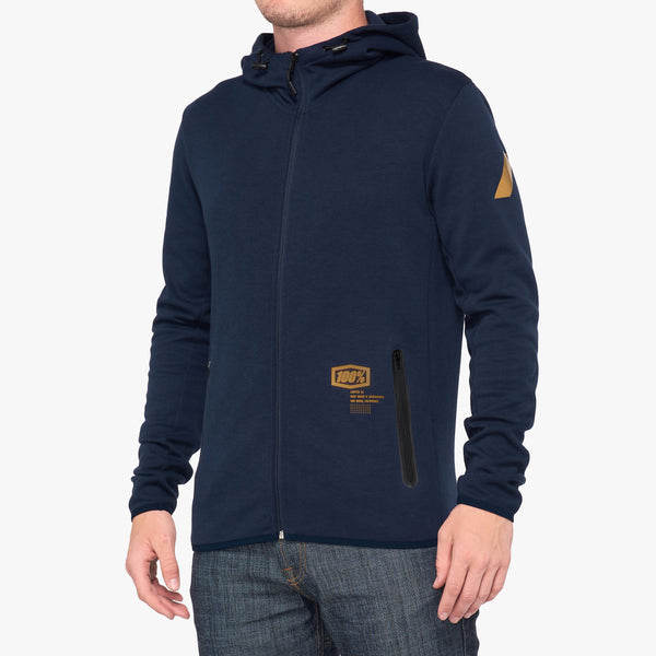 VICEROY Hooded Zip Tech Fleece Navy
