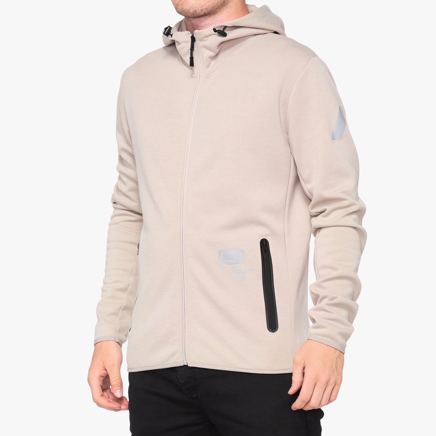VICEROY Hooded Zip Tech Fleece Warm Grey