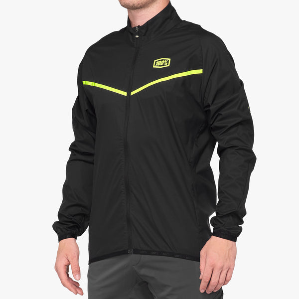 CORRIDOR Stretch Windbreaker - Black/Yellow