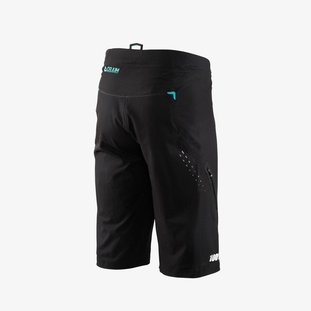 CELIUM Shorts - Black/Cyan