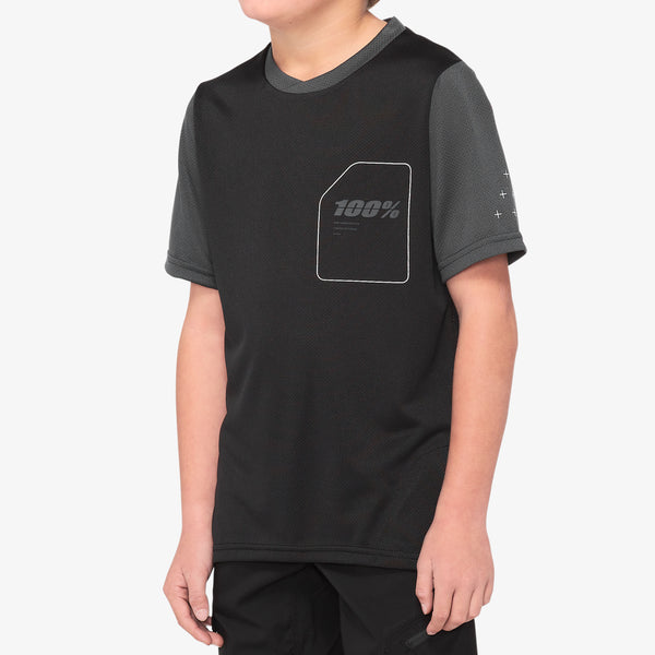 RIDECAMP Youth Jersey Black/Charcoal