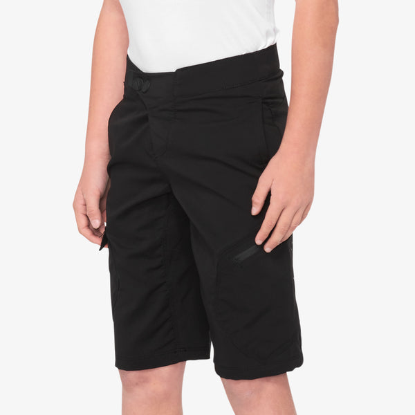 RIDECAMP Shorts - Black - Youth