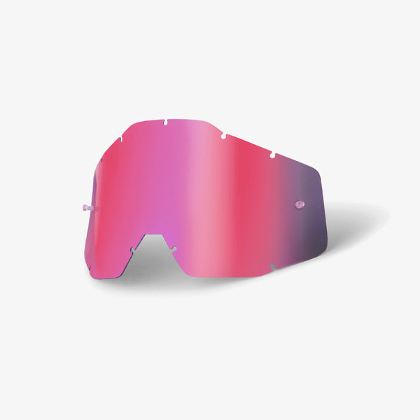 RACECRAFT/ACCURI/STRATA - Replacement Lens - Pink Mirror/Smoke