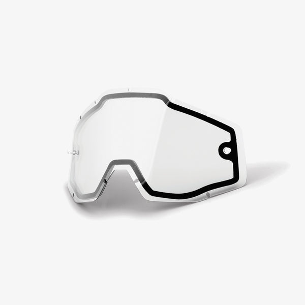 100/% Racecraft//Accuri//Strata Replacement Lens Clear Dual Pane Vented Lens