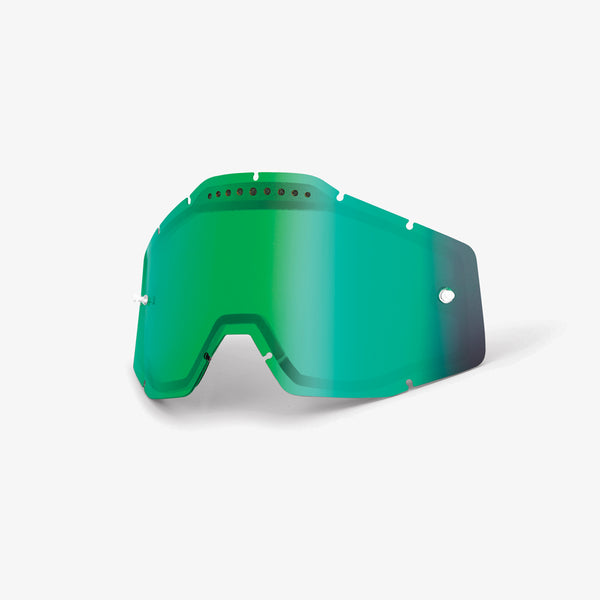 RACECRAFT/ACCURI/STRATA - Vented Dual Pane Lens - Green Mirror