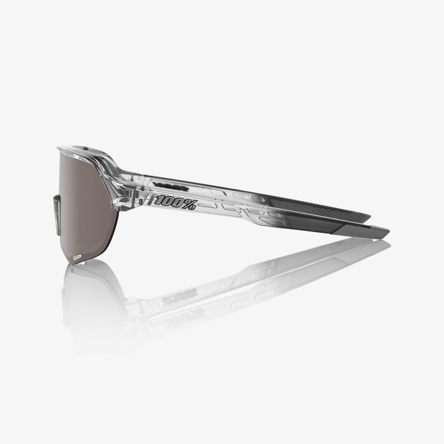 S2 - Polished Translucent Grey - HIPER Silver Mirror Lens