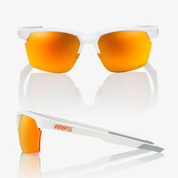 SPORTCOUPE - Matte White - HiPER Red Multilayer Mirror Lens