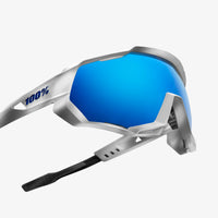 SPEEDTRAP - Matte White - HiPER Blue Multilayer Mirror Lens