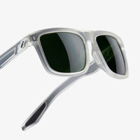 BLAKE - Matte Translucent Crystal Clear - Grey Green Lens