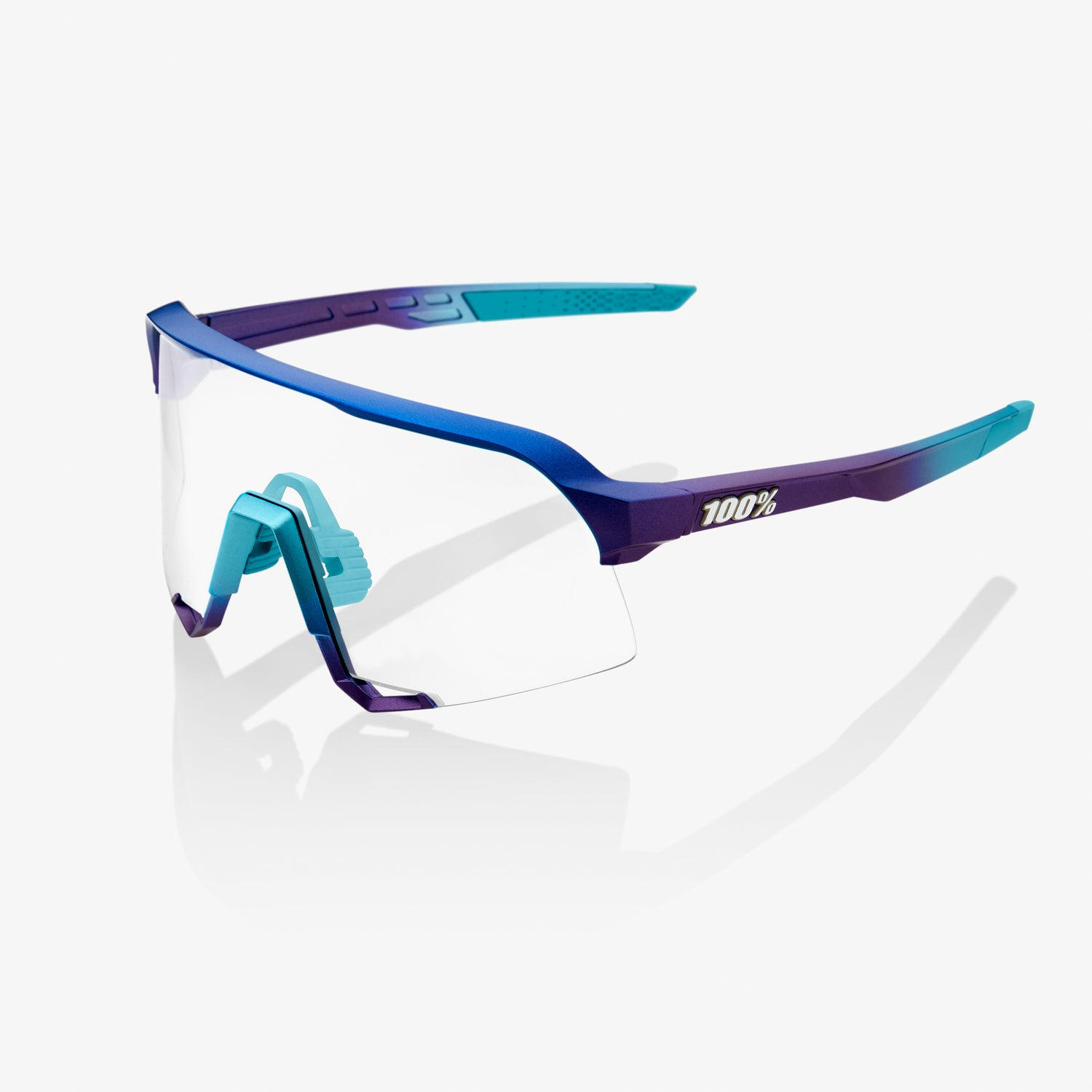 S3 - Matte Metallic Into the Fade - Blue Topaz Multilayer Mirror Lens