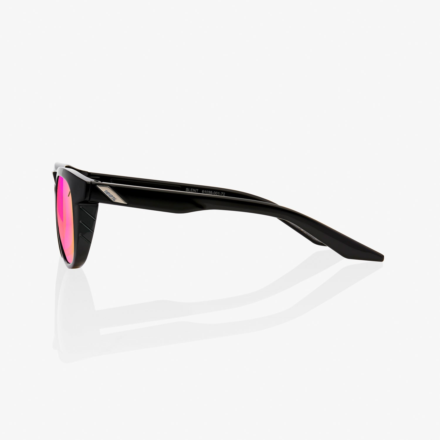 Slent - Polished Black - Purple Multilayer Mirror Lens