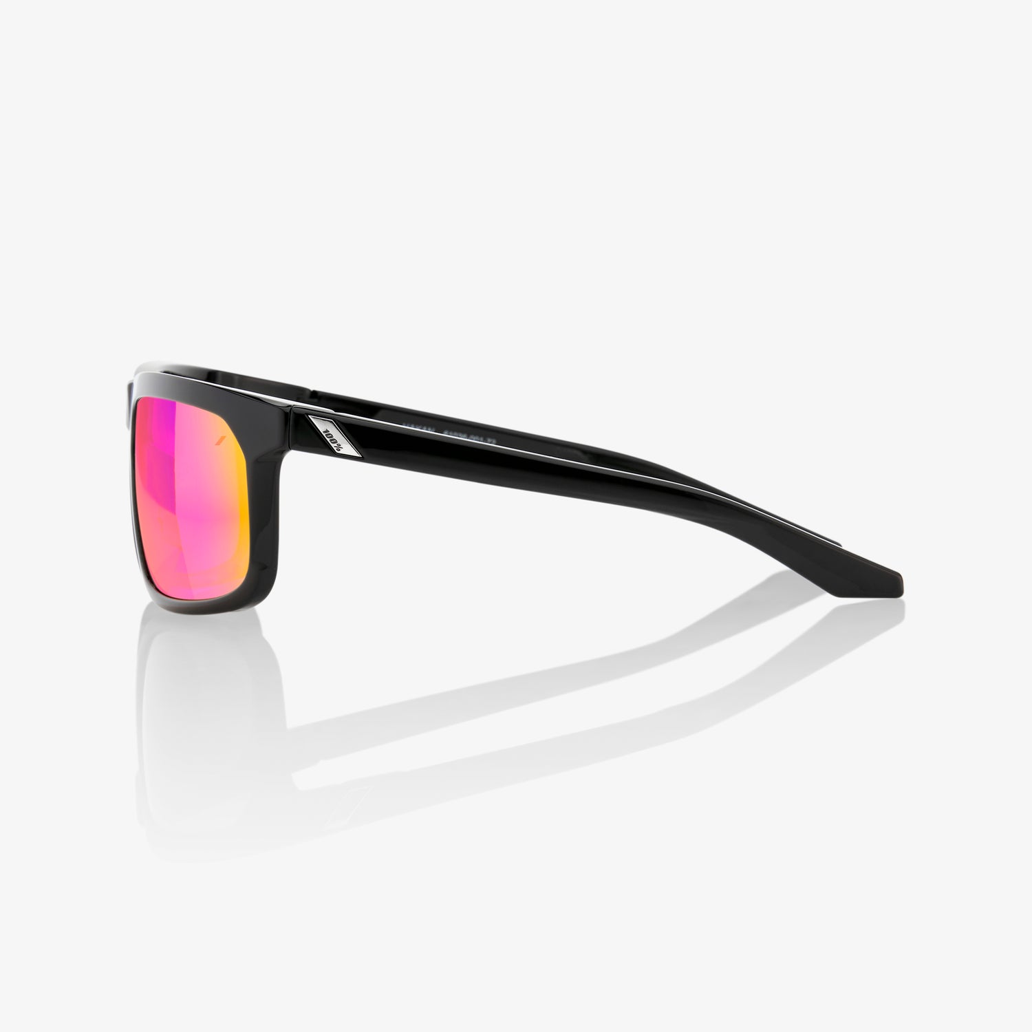 HAKAN - Polished Black - Purple Multilayer Mirror Lens