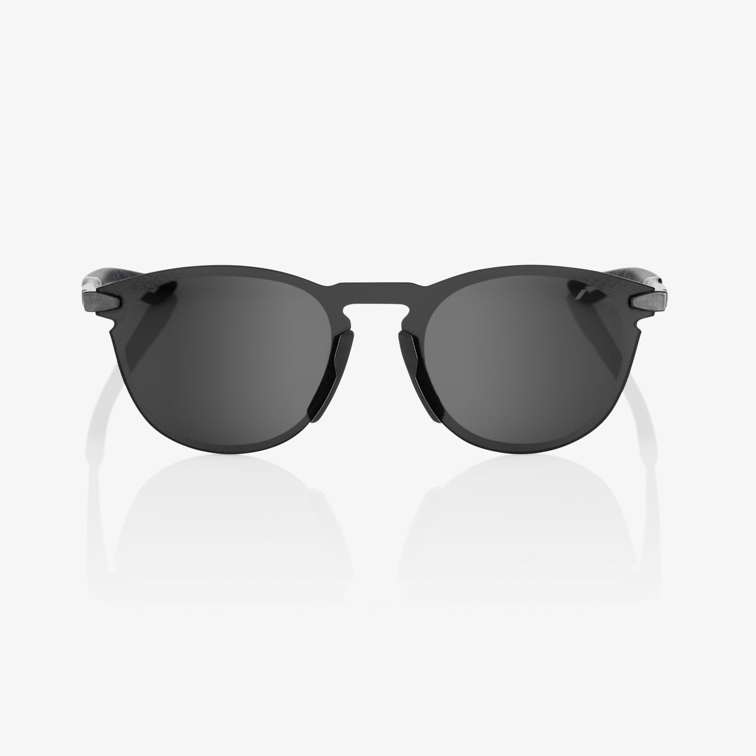 LEGERE Round - Polished Black - Smoke Lens