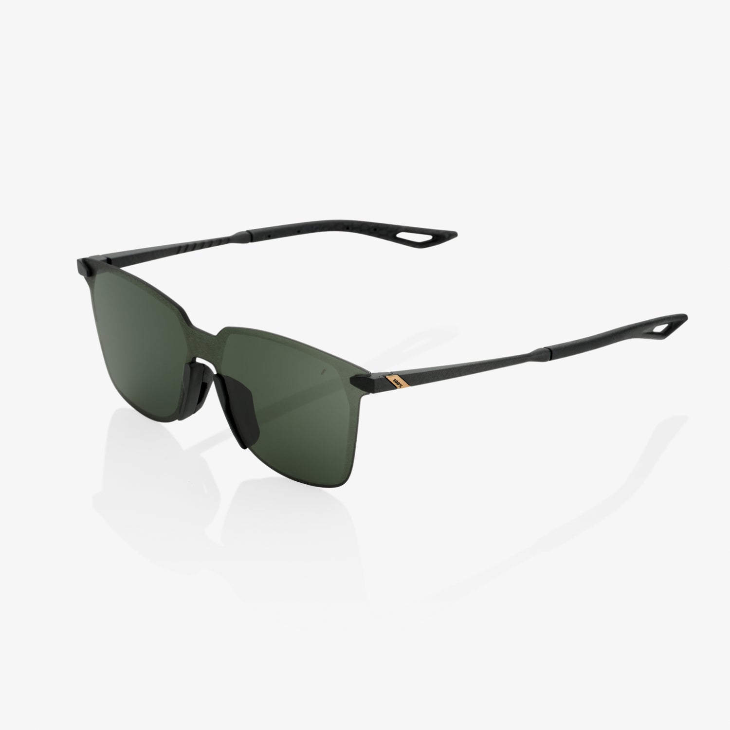 LEGERE Square - Matte Black - Grey Green Lens