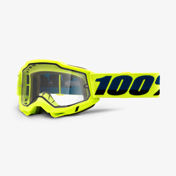 ACCURI 2 Enduro Moto Goggle Fluo Yellow - Clear Dual Lens