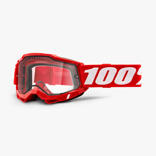 ACCURI 2 Enduro MTB Goggle Red - Clear Vented Dual Lens