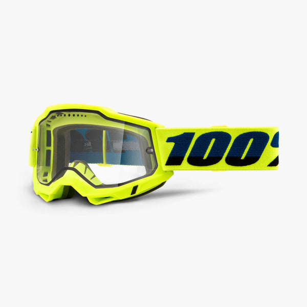 ACCURI 2 Enduro MTB Goggle Fluo Yellow - Clear Vented Dual Lens
