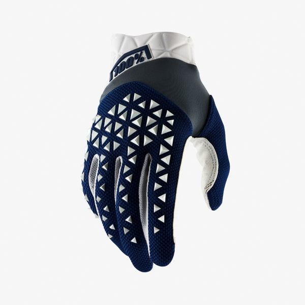 AIRMATIC Gloves Navy/Steel/White
