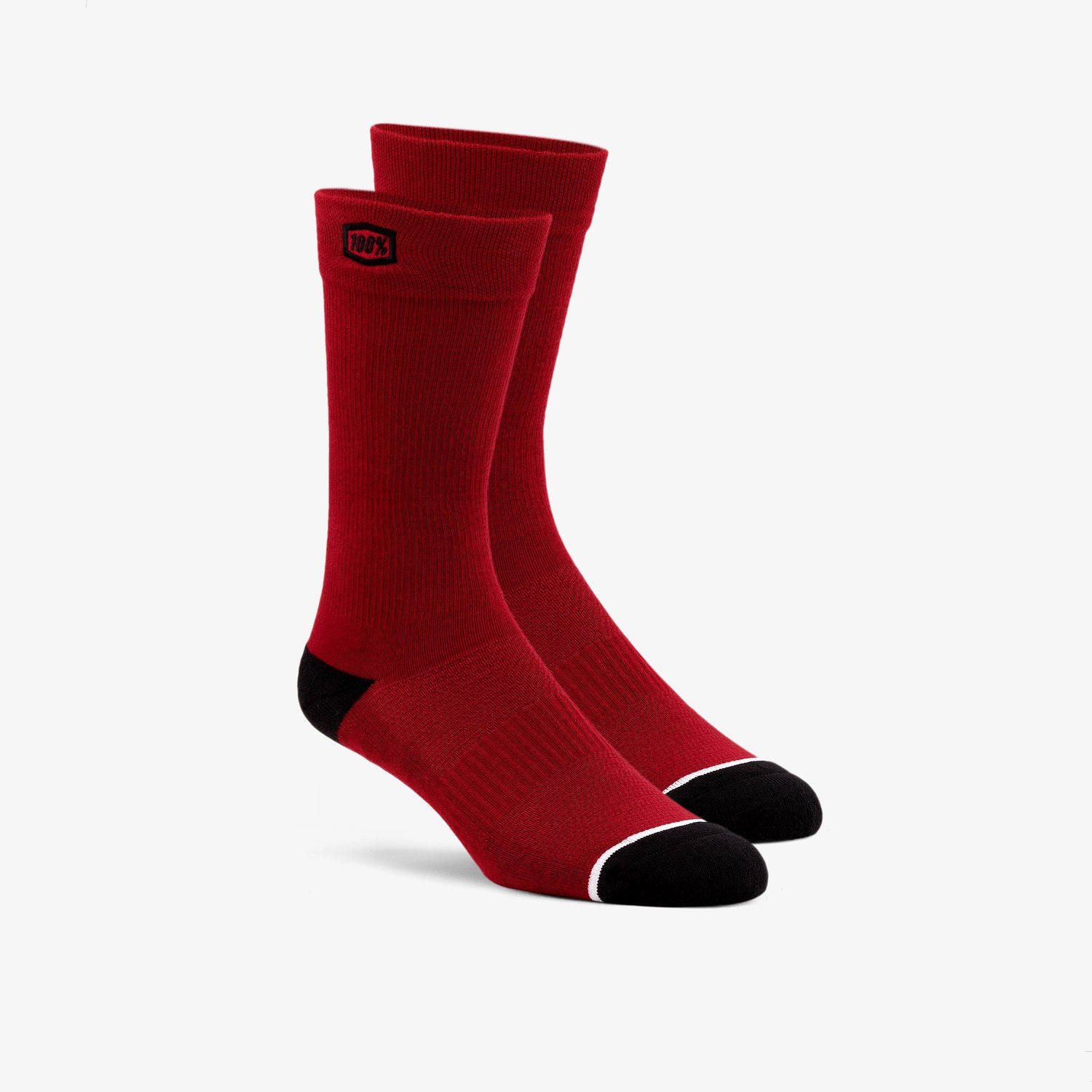 SOLID Casual Socks Red