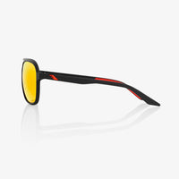 KASIA Aviator Round Soft Tact Black HiPER Red Multilayer Mirror Lens