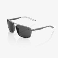KONNOR Aviator Square Soft Tact Dark Haze Smoke Lens