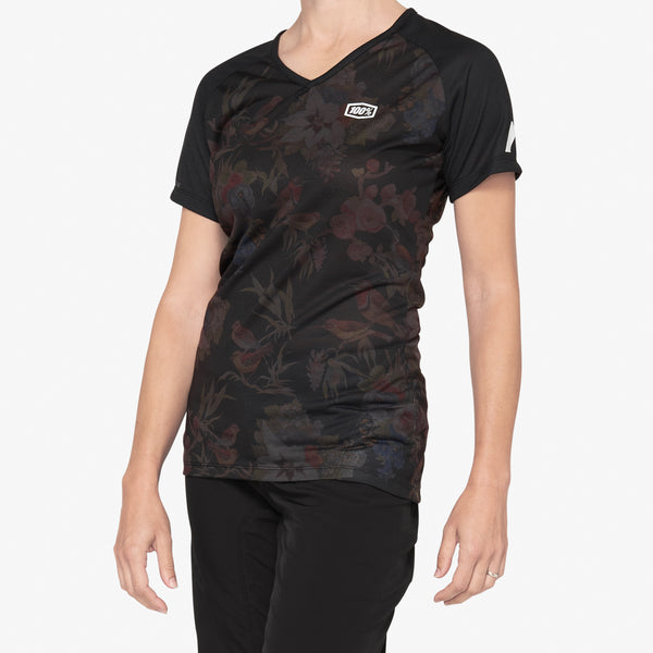 AIRMATIC Women's Jersey Black Floral