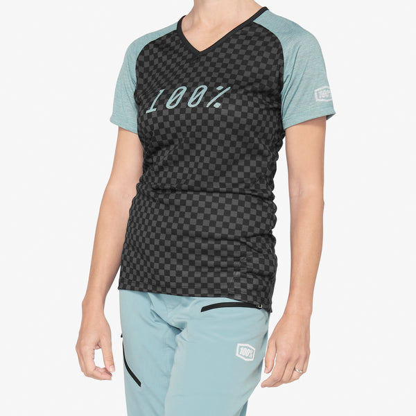 AIRMATIC Women's Jersey Seafoam Checkers