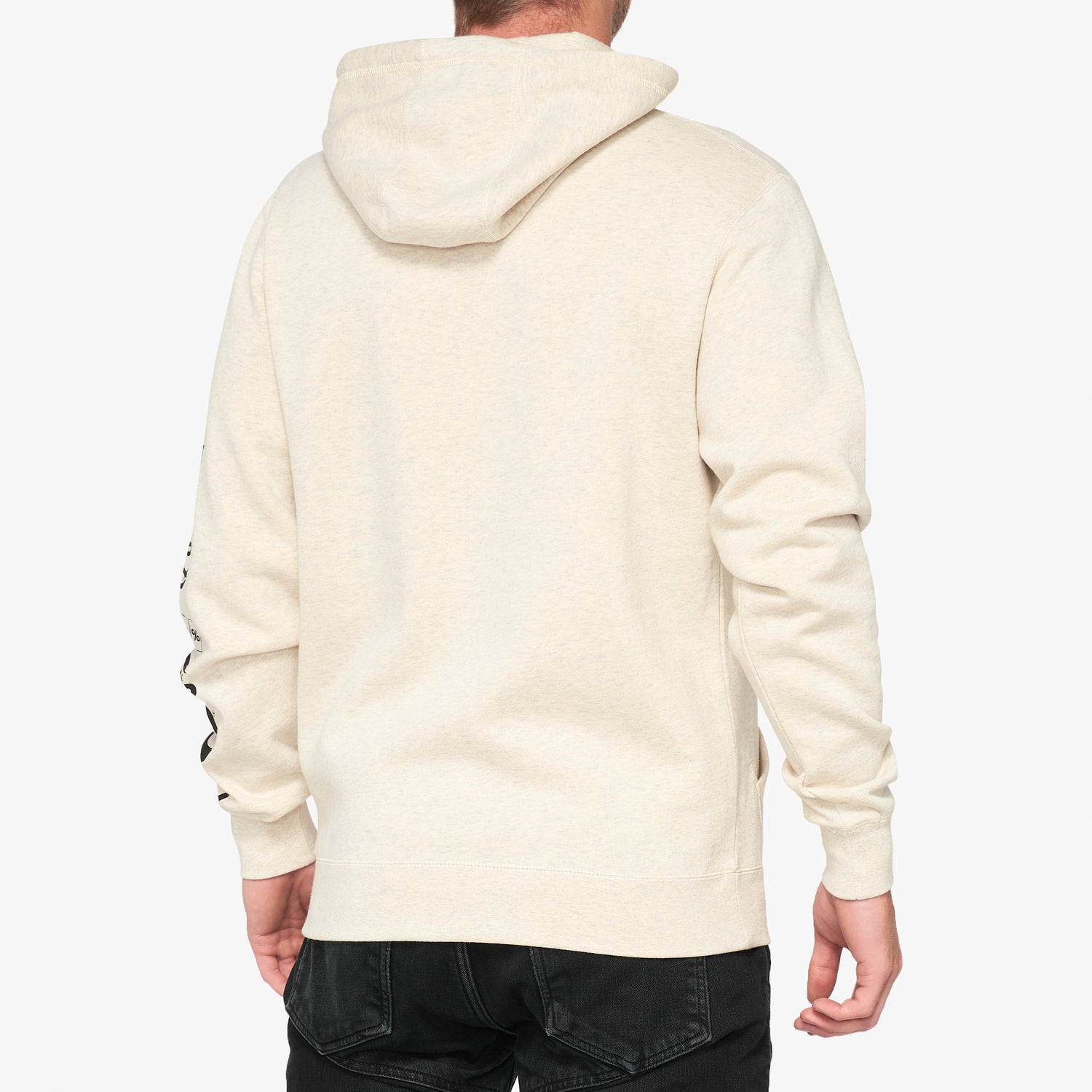 SUPER FUTURE Hooded Pullover Sweatshirt Oatmeal Heather
