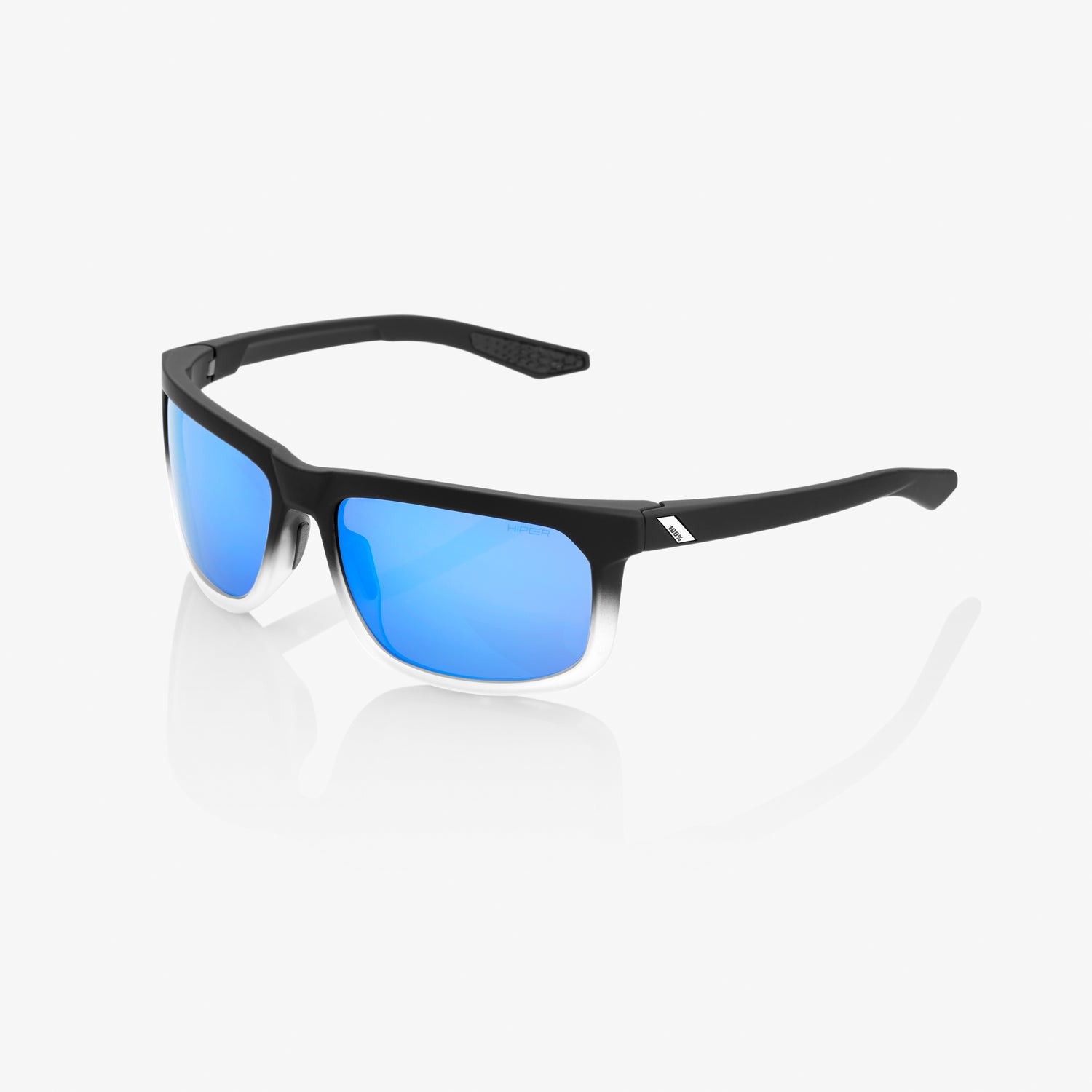 HAKAN - Soft Tact Fade Black / White - HiPER Blue Multilayer Mirror Lens
